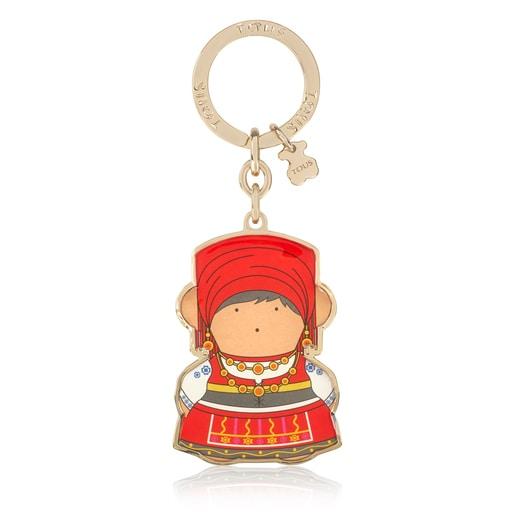 Multicolored Oso Portugal Key ring