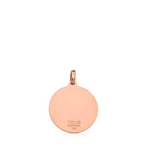 Colgante Rubric de Plata Vermeil rosa