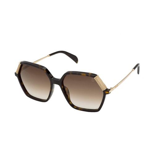 Square Bear Havana sunglasses in black