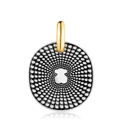 Large two-tone Oursin Pendant