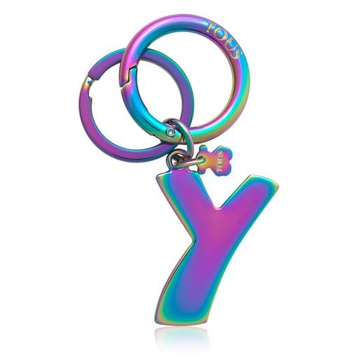 Iridescent Touscedario Letter Y Key ring