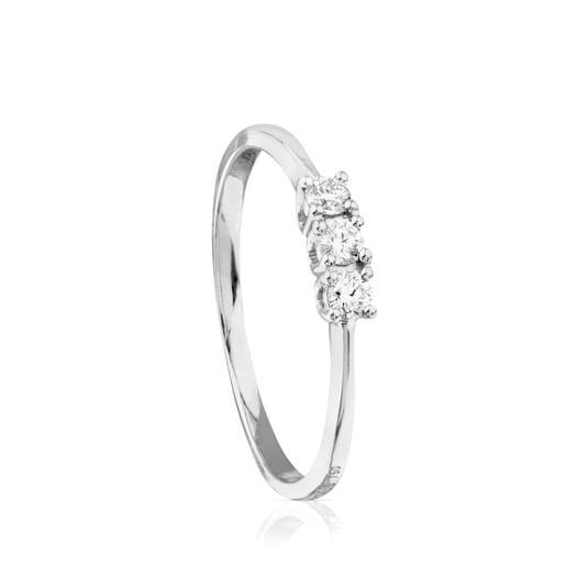 Anillo TOUS Brillants de Oro blanco con Diamantes