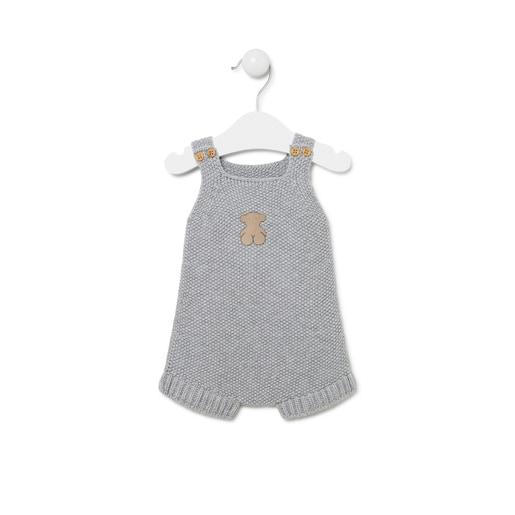 Ranita de bebé de tricot Gris
