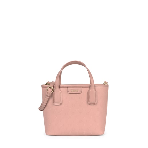 Μικρή ροζ τσάντα-καλάθι Script Day