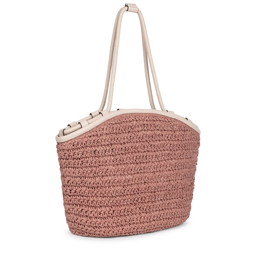 Pink and beige TOUS Craft Tote bag