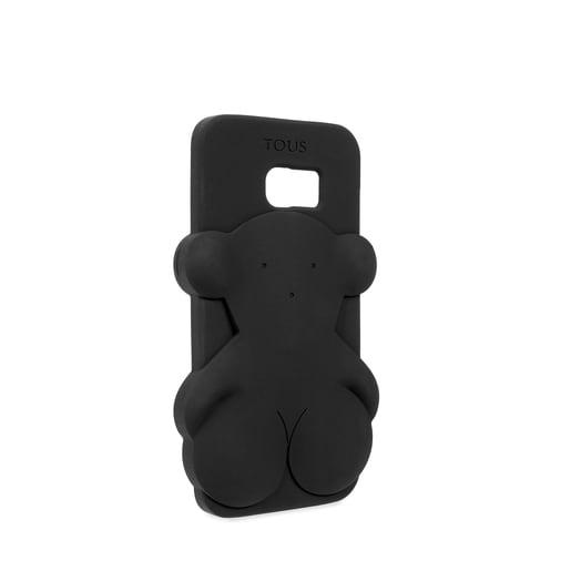 Funda de móvil Samsung Galaxy S7 Edge Rubber Bear en color negro