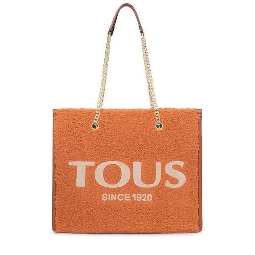 Μεγάλη καστανοκόκκινη τσάντα για Ψώνια Amaya Warm