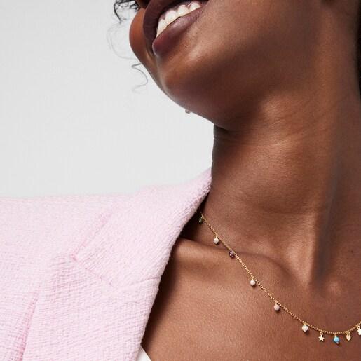 Colar Cool Joy em Prata Vermeil e pedras preciosas