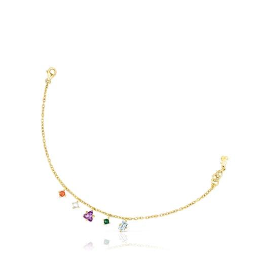 Armband TOUS Good Vibes aus Vermeil-Silber mit Edelsteinen