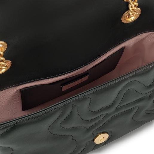 Small green Kaos Dream shoulder bag with flap