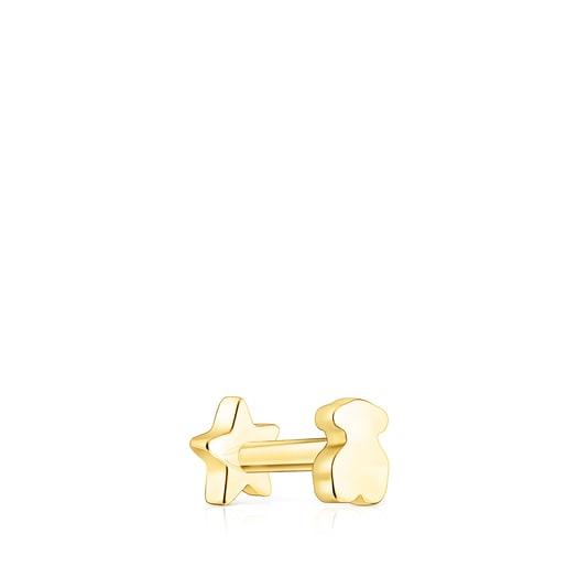 Piercing de oreja TOUS Basics estrella de oro