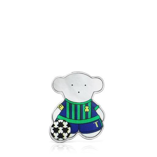 ピンブローチ  SPORTS  くま  サッカー