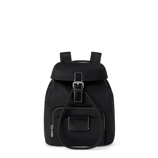 Small black Empire Soft Chain Backpack