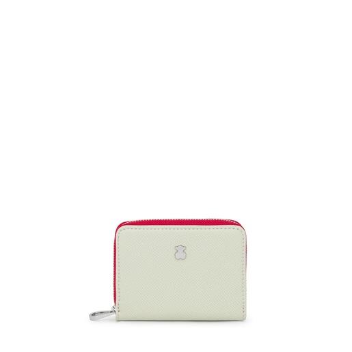 Medium beige and mint New Dubai Change purse