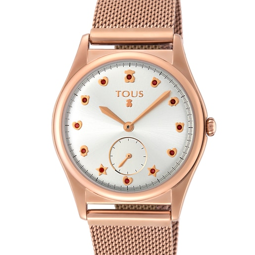 Pink IP steel Free Watch