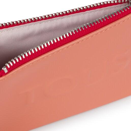Portemonnaie und Kartenetui Dorp in Pink