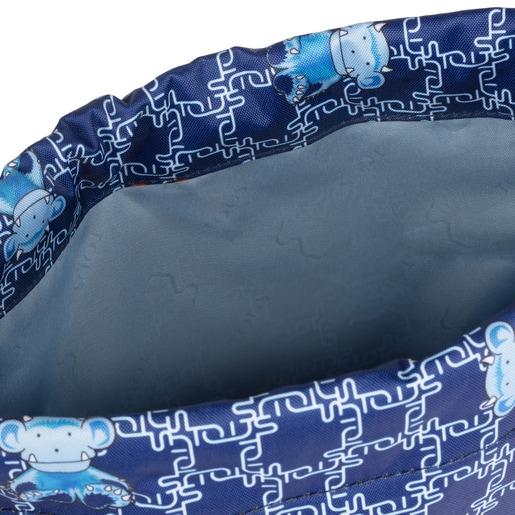 Blue School Logogram flat Backpack