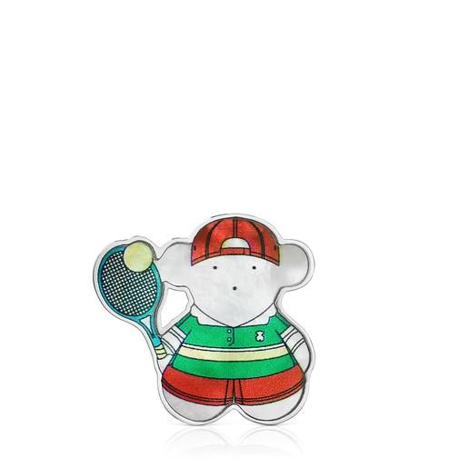 ピンブローチ  SPORTS  くま  テニス