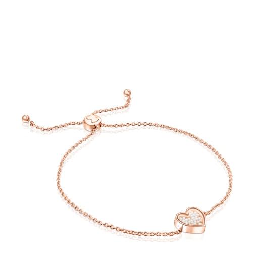 Pulsera Areia de plata vermeil rosa y perlas
