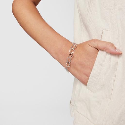 Silver TOUS Carrusel Bracelet 19cm.