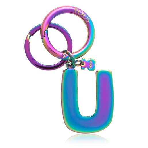 Iridescent Touscedario Letter U Key ring