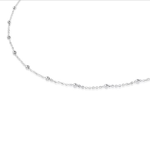 Silver TOUS Chain Choker. 45cm.