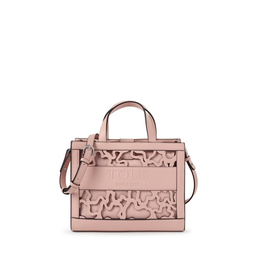 Medium pink Amaya Kaos Shock shopping bag