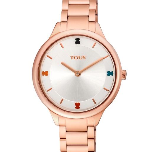 Reloj Tartan de acero IP rosado