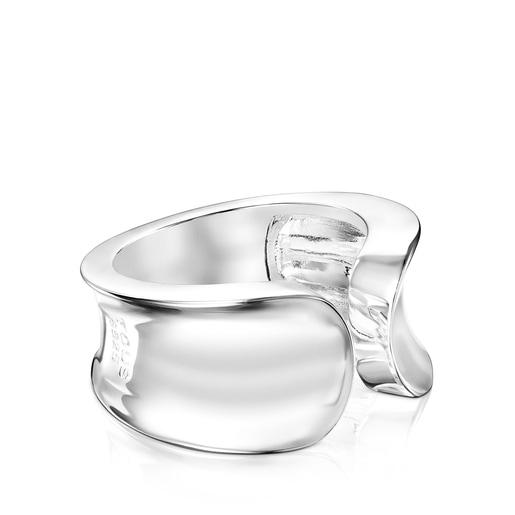 Anillo abierto TOUS Basics liso de plata