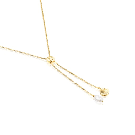 Silver vermeil Sea Vibes Necklace with pearl
