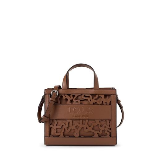 Medium brown Amaya Kaos Shock shopping bag
