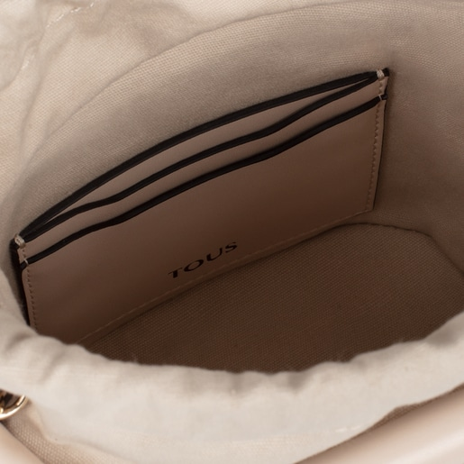Small pink and beige TOUS Craft Bucket bag