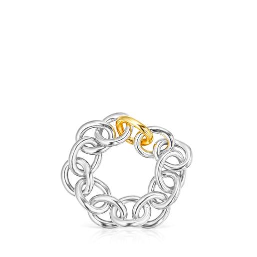 Pulsera anillas Hav XL bicolor