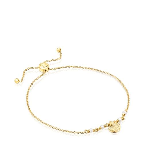 Vermeil-Silber Sea Vibes Armband mit Perlen