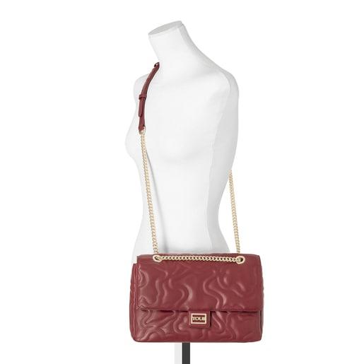 Medium brown Kaos Dream shoulder bag with flap