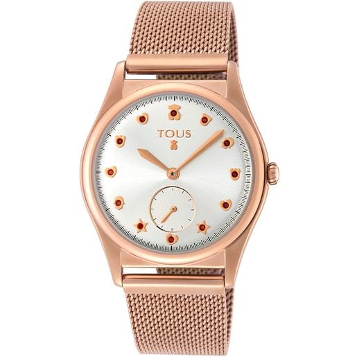 Reloj Free de acero IP rosado