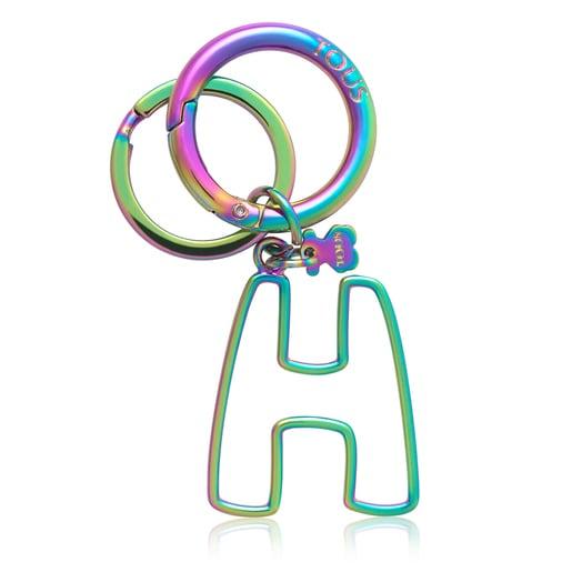 Iridescent Touscedario Letter H Key ring