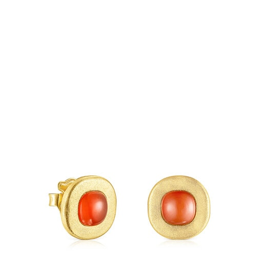 Silver vermeil Nattfall Earrings with carnelian