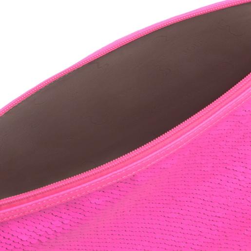 Kleine Handtasche Kaos Shock Sequins in Neonpink