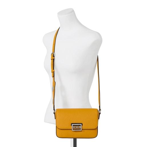 Mustard colored leather TOUS Legacy Crossbody bag