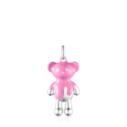 Pink Hold Teddy Bear Necklace set