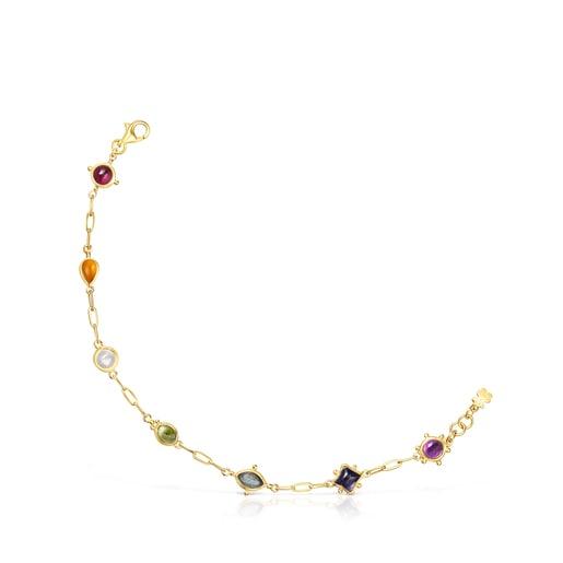 Bracelet Magic Nature en argent vermeil et pierres précieuses