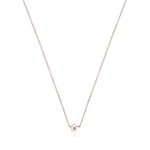 Κολιέ Real Sisy από ροζ Χρυσό Vermeil με Μαργαριτάρια