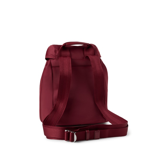 Small burgundy Empire Soft Chain Backpack