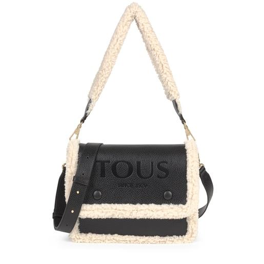Medium New Audree Crossbody bag with black-colored sheepskin