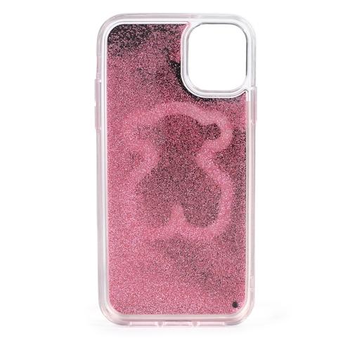 XI pink Delrey Glitter Mirror Bear Cellphone cover