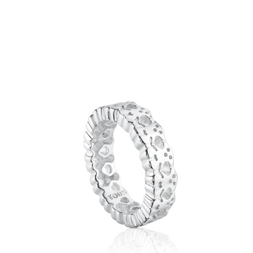 Silver TOUS Puppies Ring Bear motifs