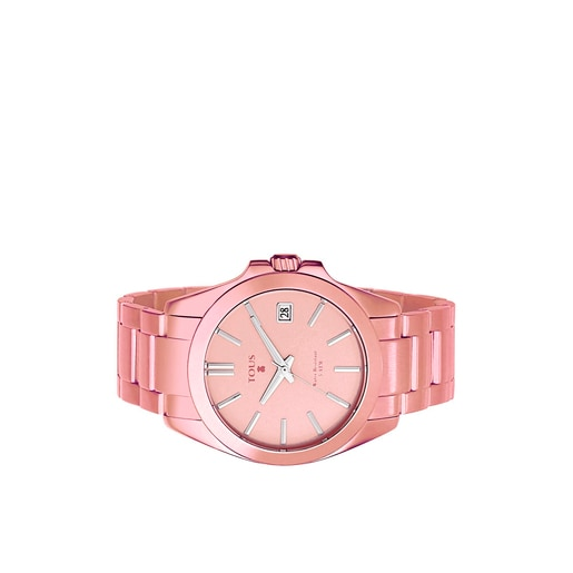 Pink anodized Aluminum Drive Watch