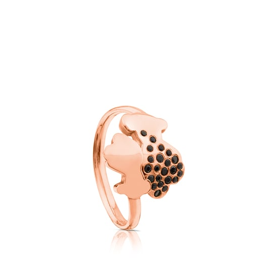 Rose Vermeil Silver Twist Ring