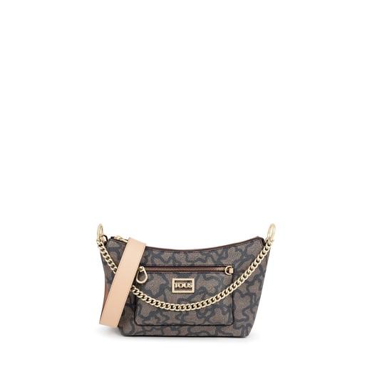 Black multi Kaos Icon baguette crossbody bag